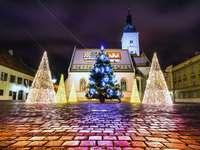 Hoofdstad van Kroatië Kerk van St. Mark