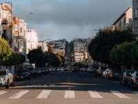Autos auf der Straße in der Nähe von Gebäuden während des Tages