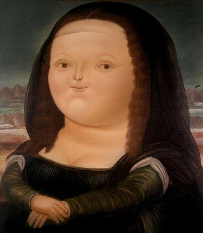 Mona Lisa Botero - Idź do montażu obrazu i porozmawiaj z osobą dorosłą o tym, co sobie wyobrażasz, patrząc na elementy (10×12)