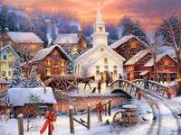 town during holidays