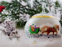 bauble with a sleigh