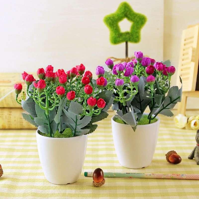 sztuczne kwiaty doniczkowe - m (11×11)