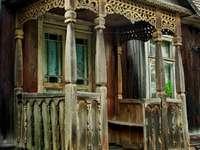 un viejo porche en Podlasie