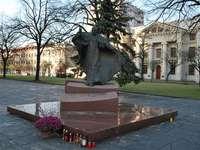 Denkmal für Johannes Paul II. In Łódź (Piotrkowska-Straße)