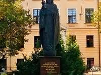 Die Statue von Christus dem König in Toruń