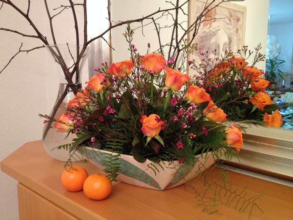 ikebana cu trandafiri - m (13×10)