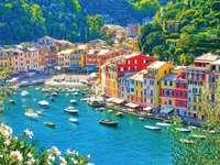 Portofino táj.