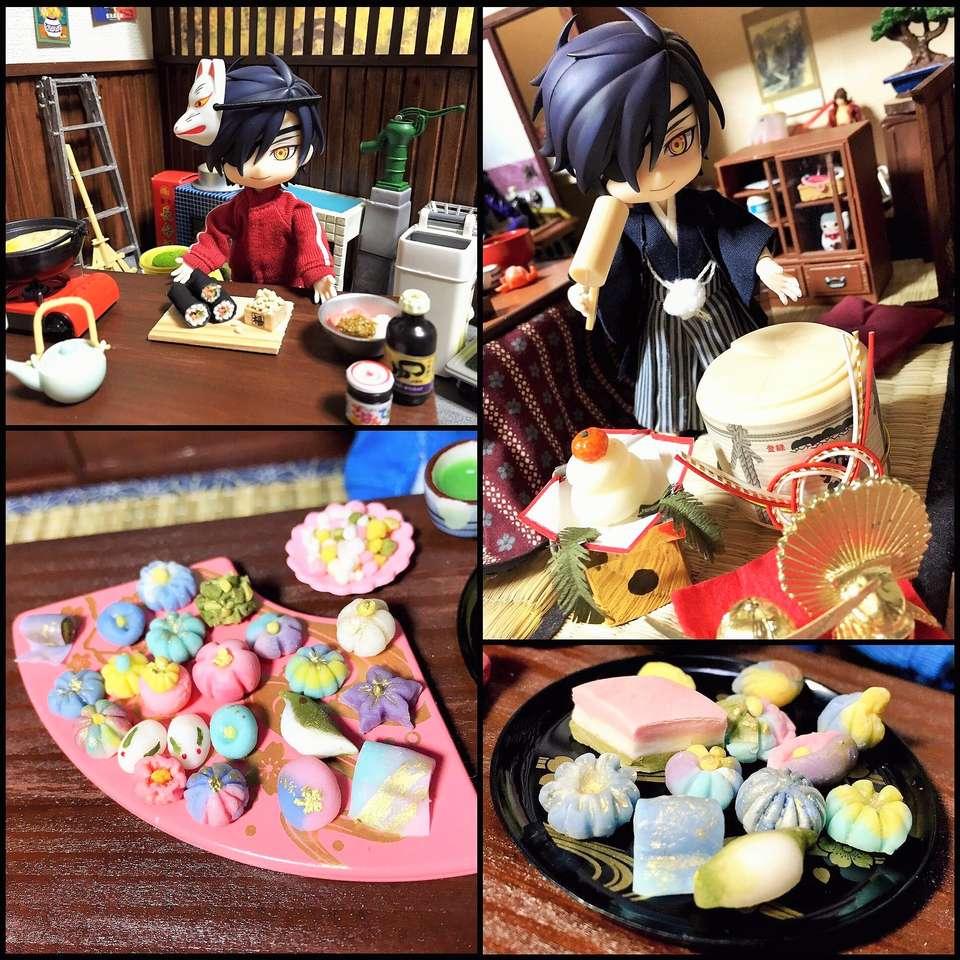Mitsu σε ιαπωνική λειτουργία - Η Mitsutada (Touken Ranbu) σε ιαπωνική λειτουργία τρώει πολλά όμορφα και νόστιμα γλυκά (11×11)