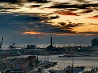 Genoa, the port and the lantern