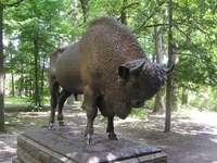 Posąg Żubra w Spale