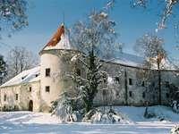 Jastrebarsko v zimě Chorvatsko
