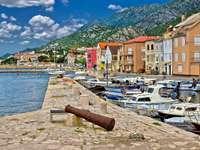Karlobag város Horvátországban