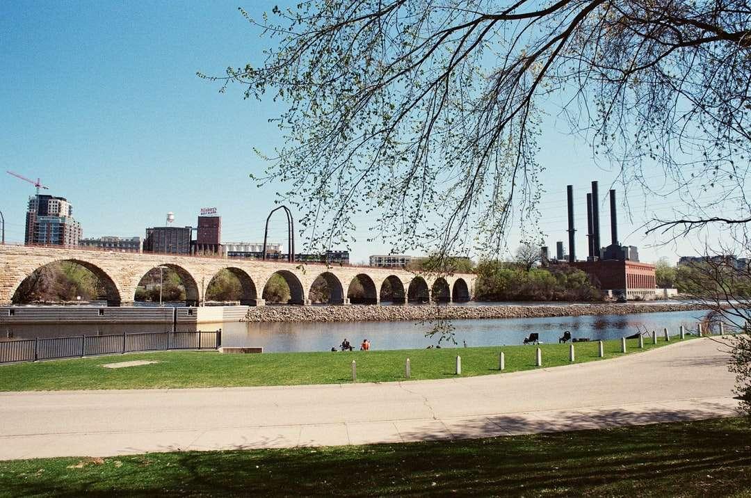 ponte di cemento marrone sotto il cielo blu durante il giorno - Minneapolis, MN, USA (12×8)