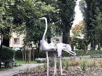 "Escultura ""Pássaros"" em Zielona Góra"