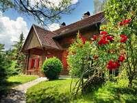 Medimurje trähus Kroatien