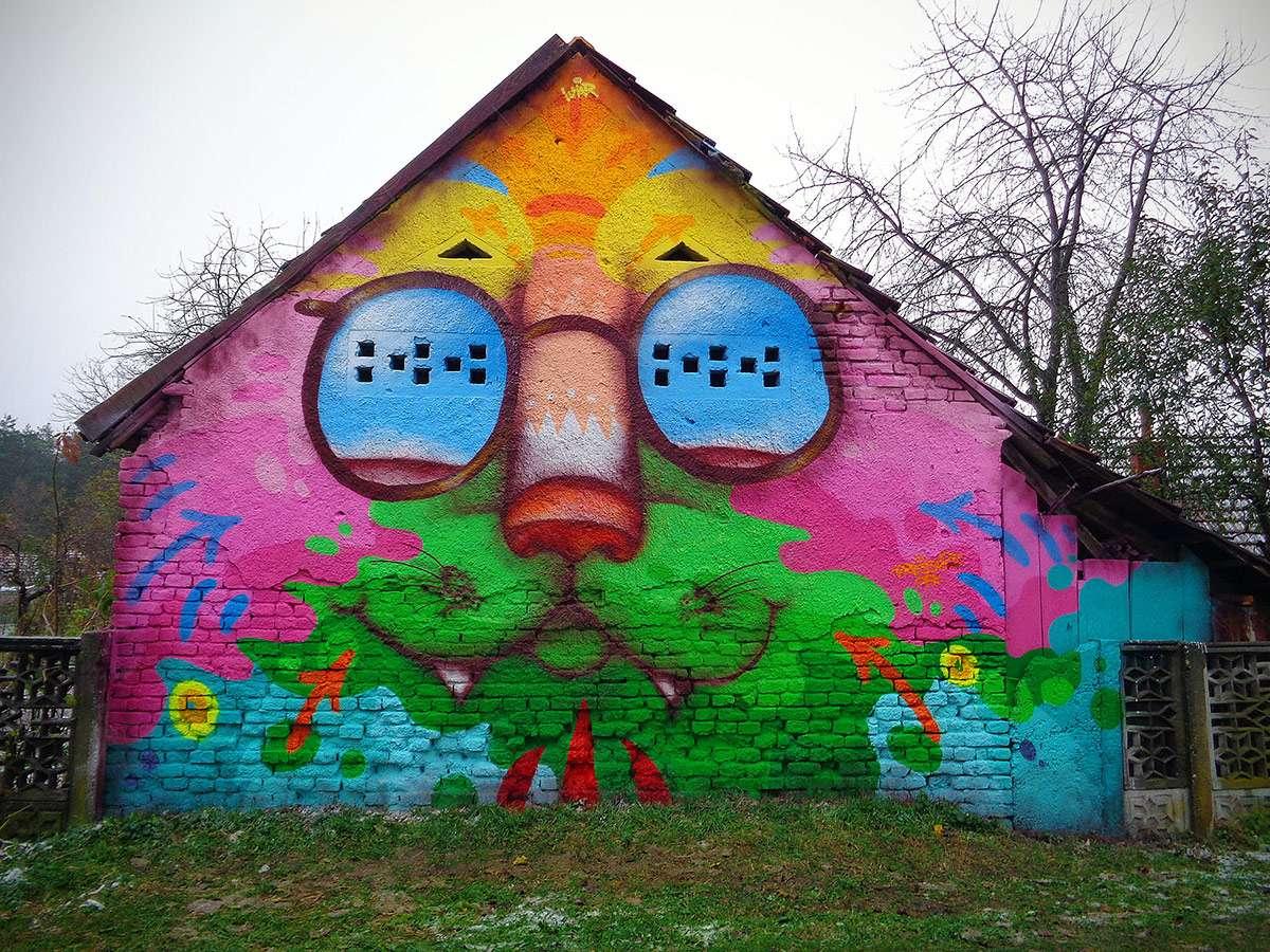 Medimurje färgglada hus Kroatien (14×11)