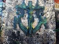 Escultura de Medimurje na igreja da Croácia