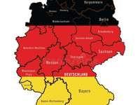 Mapa dos vizinhos da Polônia