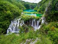 Slunjská jezera vodopády Chorvatsko