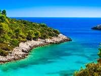 Coastal landscape of Croatia