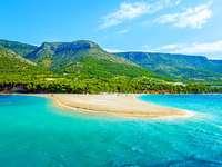 Paysage côtier de la Croatie