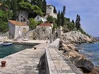 Trsteno coast Croatia