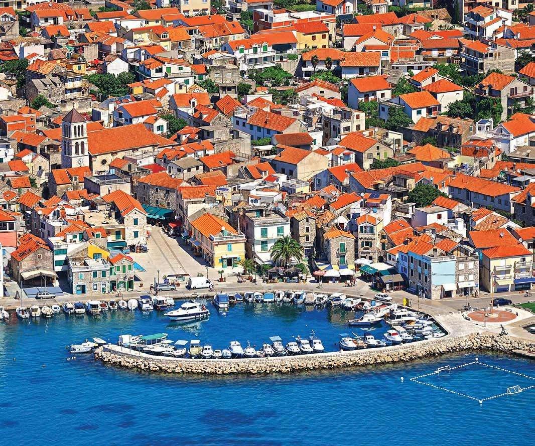 Град Водице в Хърватия (14×12)
