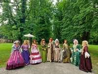 Zapresic roupas históricas no parque Croácia