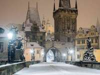 Tél Prágában.