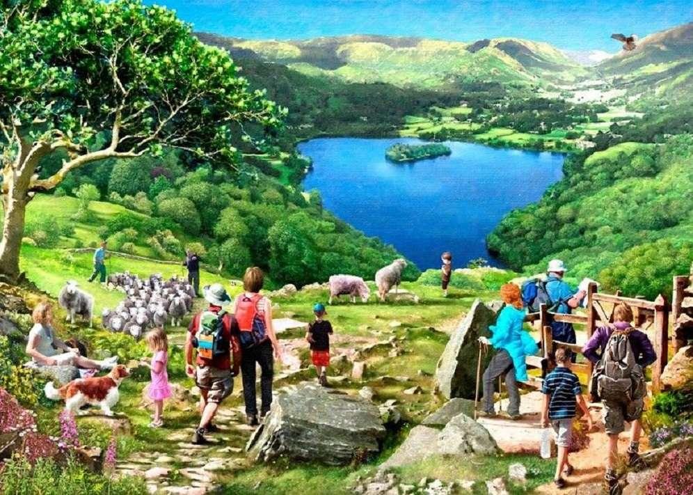 Uma viagem ao lago - Enigma da paisagem (11×8)