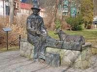 Monument voor Nikifor Krynicki in Krynica-Zdrój