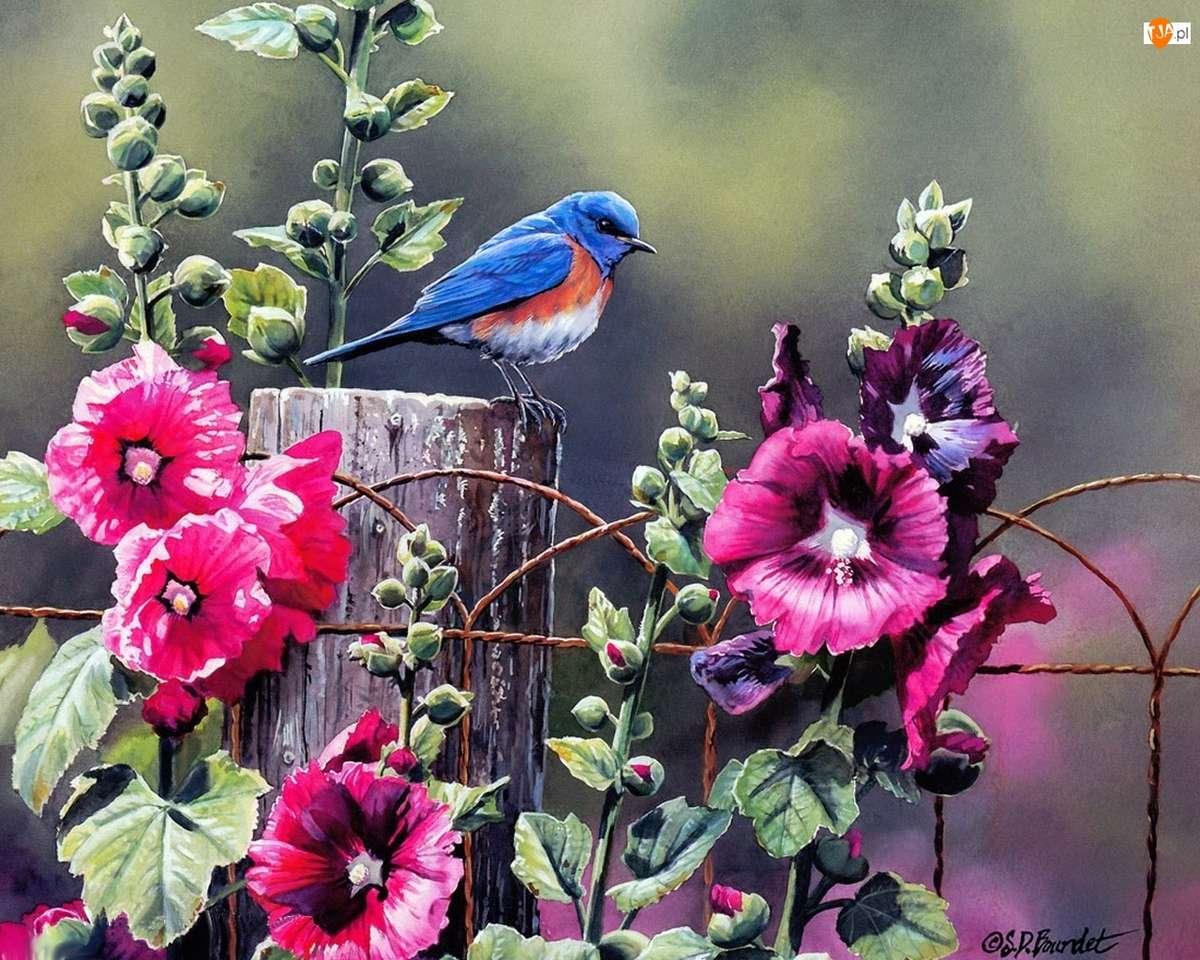 птица на оградата - м (12×10)