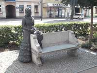 Banc de Maria Konopnicka à Suwałki