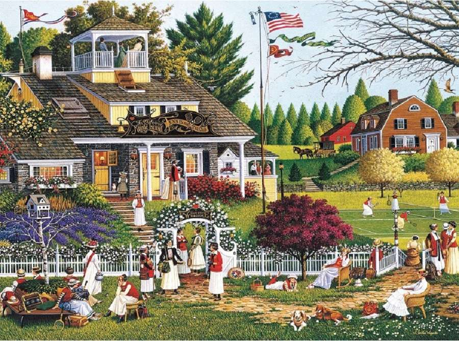 <<Amerika>> - Landskap pussel (12×9)