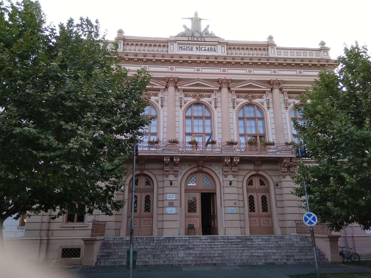 Арад през лятото - Гимназия в град Арад (12×9)