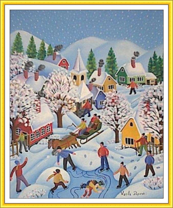 De winter is welkom - Maak een afbeelding Bordspel (4×6)
