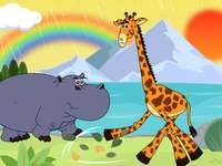 Rompecabezas de hipopótamos