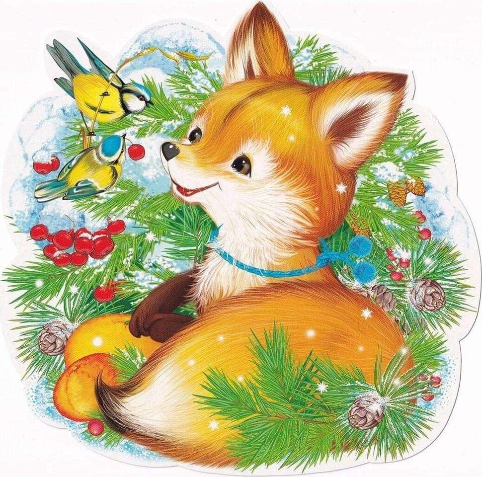 Fox pups - Fox puppies, wilde dieren (3×3)