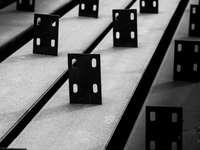 blocs carrés noirs et blancs