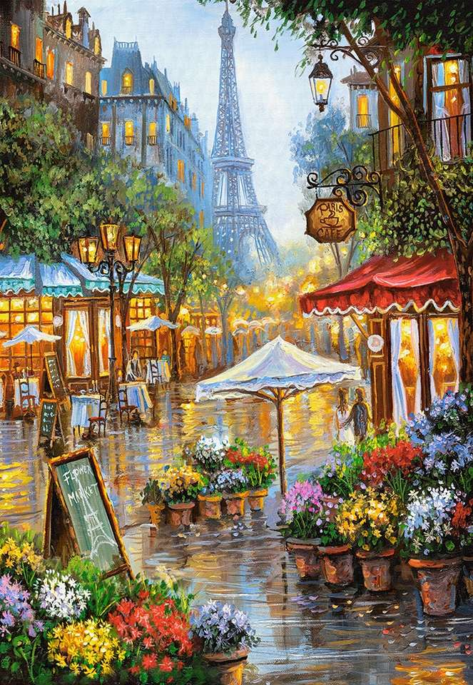 ανθοπωλείο στο δρόμο στο Παρίσι - Μ (7×11)