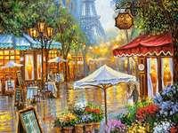 virágüzlet az utcán, Párizsban
