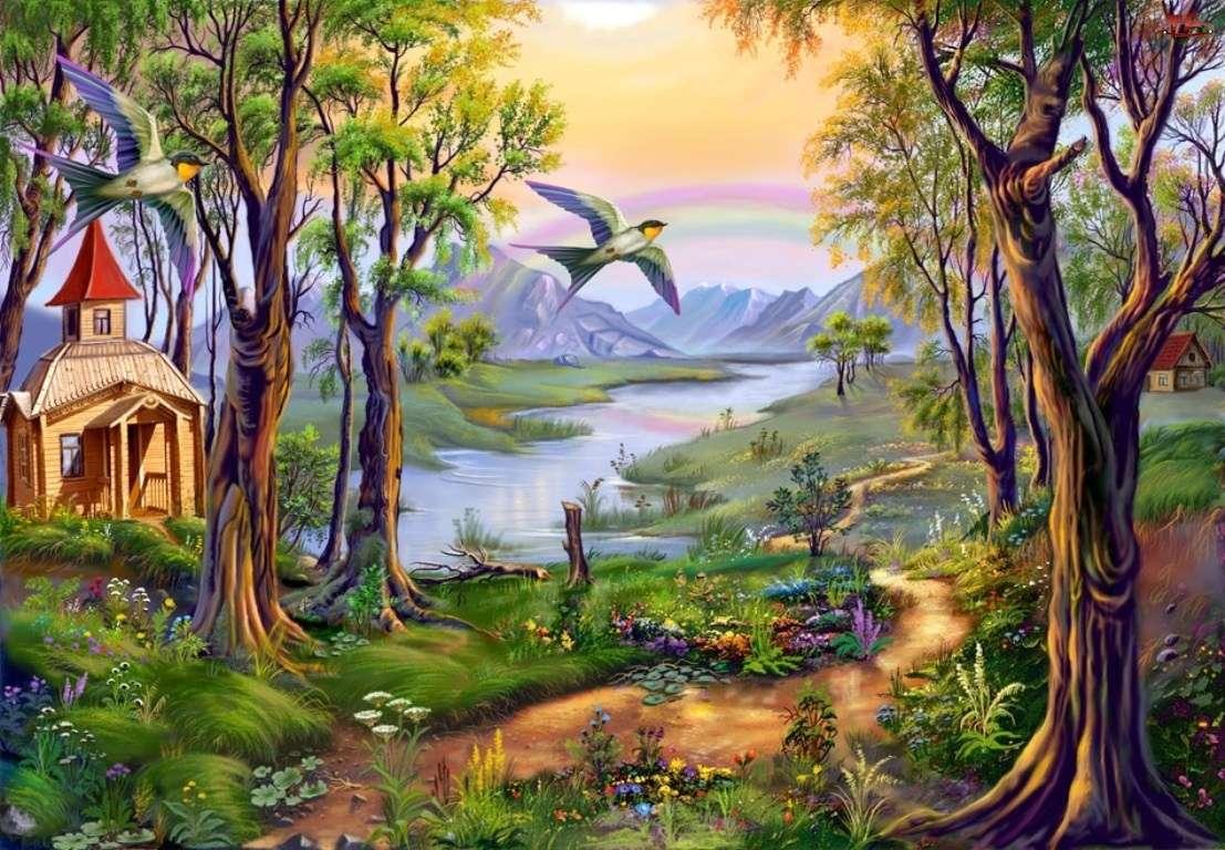 kápolna az erdőben - m (14×10)