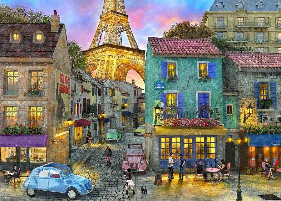 по-рано в Париж - преди в пейзаж на Париж (12×9)