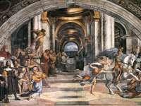 Rafael wypędzenie elodora ze świątyni