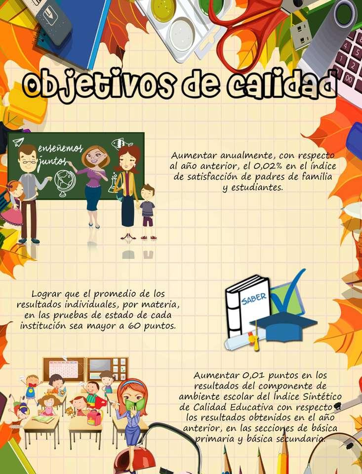 Objetivos de calidad - Objetivos de calidad del colegio El Minuto de Dios Ciudad Verde (9×12)