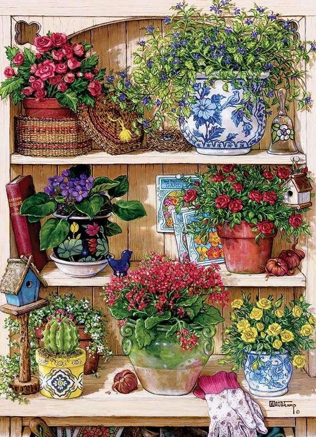 puzzel-ingemaakte bloemen - m (8×12)