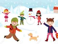 dětské hry v zimě