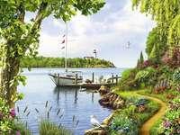 << Por el lago >>