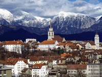 Kranj Stadt in Slowenien