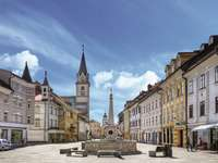 Kranj stad i Slovenien